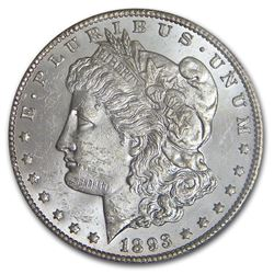 1893-CC Morgan Dollar BU MS-63 RARE DATE