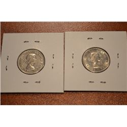 (2) Canada Nickles: 1963-64