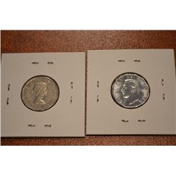 (2) Canada Nickles: 1951 Low Relief, 1961