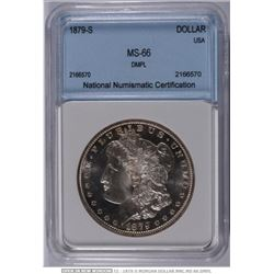 USA;  1879-S $1 Dmpl, NNC MS66. VERY RARE!!!