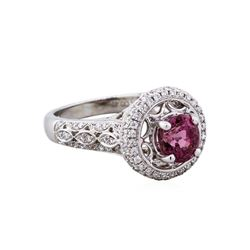 18KT White Gold 1.69ct Spinel and Diamond Ring
