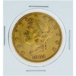 1902-S $20 XF Liberty Head Double Eagle Gold Coin
