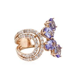14KT Rose Gold 2.55ctw Tanzanite and Diamond Ring