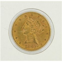 1887 $5 Liberty Head Half Eagle Gold Coin