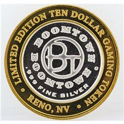Boomtown Reno, NV $10 Casino Gaming Token .999 Fine Silver Limited Edition