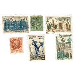 France Postage Stamps Lot of 6