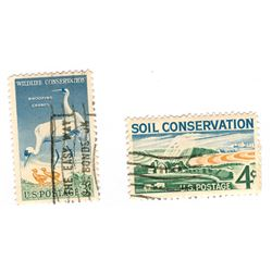 United States Conservation Postage Stamps Lot of 2