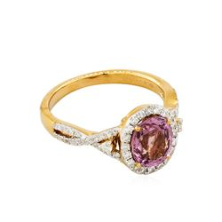 14KT Rose Gold 1.84ct Spinel and Diamond Ring
