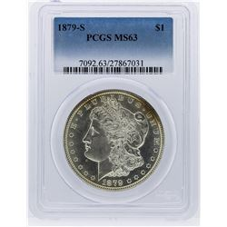 1879-S Morgan Silver Dollar Coin PCGS Graded MS63