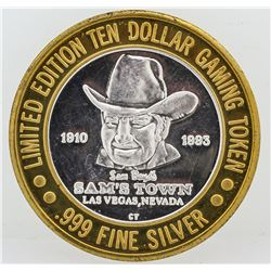 Sam's Town Las Vegas $10 Casino Gaming Token .999 Fine Silver Limited Edition