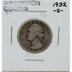 1932-S Washington Quarter Key Date Silver Coin