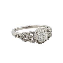 14KT White Gold 0.94ctw Round Cut Diamond Engagement Ring