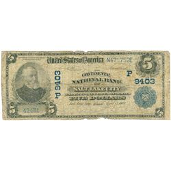 1902 $5 National Currency Bank Note Salt Lake City, Utah