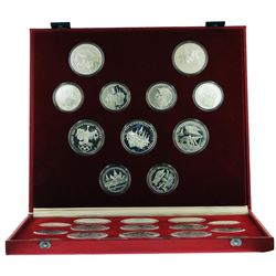 1980 Moscow Olympic (28) Proof Silver Coin Set