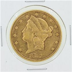 1877-S $20 VF Liberty Head Gold Coin