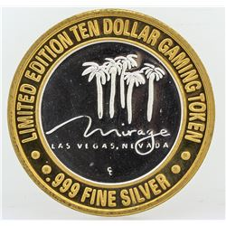 The Mirage Las Vegas $10 Casino Gaming Token .999 Fine Silver Limited Edition