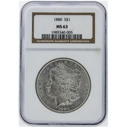 1880 Morgan Silver Dollar Coin NGC Graded MS63