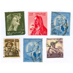Egypt Postage Stamps Lot of 6