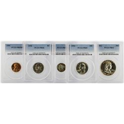 1954 PCGS Graded (5) Coin Proof Set