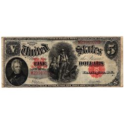 1907 $5 United States Woodchopper Speelman-White Red Seal Large Note