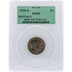 1938-D Buffalo Nickel Coin PCGS Graded MS65