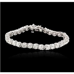 14KT White Gold 9.10ctw Diamond Tennis Bracelet