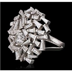18KT White Gold 3.58ctw Diamond Ring
