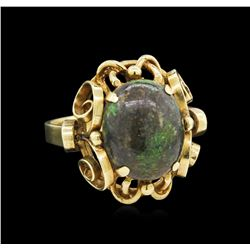 4.00ct Opal Ring - 14KT Yellow Gold