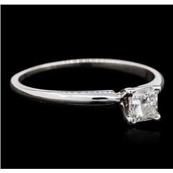14KT White Gold 0.40ct Princess Cut Diamond Solitaire Ring