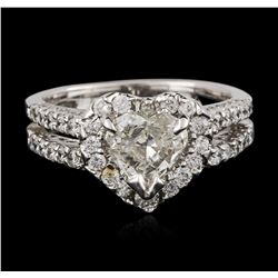 14KT White Gold 1.49ctw Diamond Ring