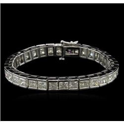 25.45ctw Diamond Tennis Bracelet - 14KT White Gold