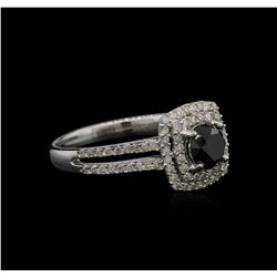 1.39ctw Black Diamond Ring - 14KT White Gold