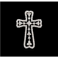 1.41ctw Diamond Cross Pendant - 18KT White Gold