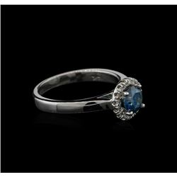 0.84ctw Blue Diamond Ring - 14KT White Gold