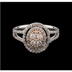 0.69ctw Diamond Ring - 14KT Two-Tone Gold