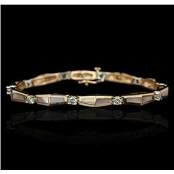 14KT Two-Tone Gold 0.67ctw Diamond Bracelet
