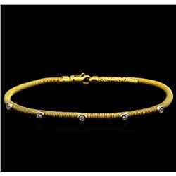 0.38ctw Diamond Bangle Bracelet - 14KT Yellow Gold
