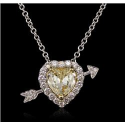 18KT Two-Tone Gold 2.25ctw Diamond Pendant With Chain