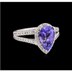 1.86ct Tanzanite and Diamond Ring - 14KT White Gold