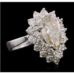 14KT White Gold 4.69ctw Diamond Ring