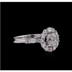 14KT White Gold 1.83ctw Diamond Ring