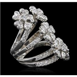 18KT White Gold 3.04ctw Diamond Ring