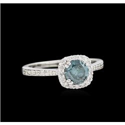 1.12ctw Blue Diamond Ring - 14KT White Gold