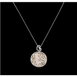 1.55ctw Diamond Pendant With Chain - 14KT Two-Tone Gold