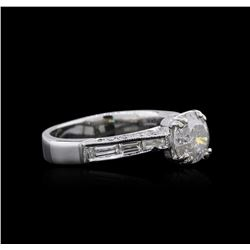 Platinum 1.64ctw Diamond Ring