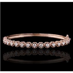 14KT Rose Gold 2.10ctw Diamond Bracelet