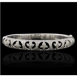 18KT White Gold 1.67ctw Diamond Bangle Bracelet