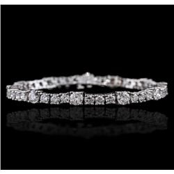14KT White Gold 9.75ctw Diamond Tennis Bracelet