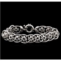 14KT White Gold Star Shape Link Design Bracelet