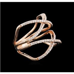 0.53ctw Diamond Ring - 14KT Rose Gold